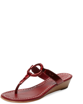 Bernardo Women's Matrix Patent Leather Wedge Sandal