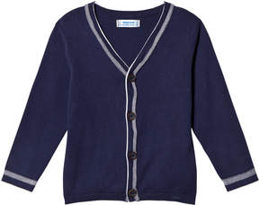 Mayoral Navy Knit Button Cardigan