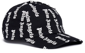 Palm Angels Zip pocket logo print baseball cap