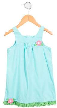 Florence Eiseman Girls' Floral-Accented A-Line Dress