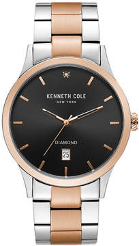 Kenneth Cole New York Men's Two-Tone Stainless Steel Bracelet Watch 42mm