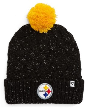 '47 Women's Fiona Pittsburgh Steelers Pom Beanie - Black