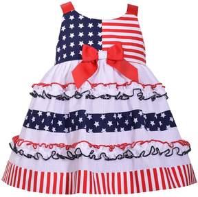 Bonnie Jean Toddler Girl Star & Stripe Print Dress