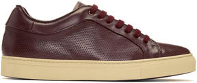 Paul Smith Burgundy Perforated Basso Sneakers