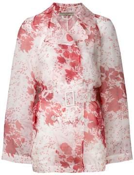 Ermanno Scervino floral print belted jacket