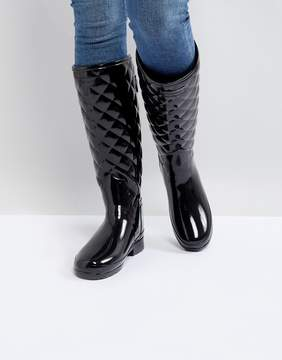 Hunter Refined Gloss Quilt Tall Wellington Boots