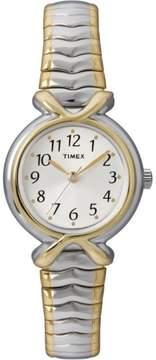 Timex Women's Two-Tone Band Case White Dial Quartz Dress Wrist Watch T21854