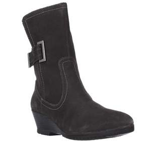 Sporto Northern Wedge Mid Calf Winter Boots, Grey.