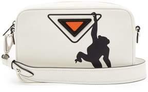Prada Monkey Print Camera Cross Body Bag - Womens - White Black