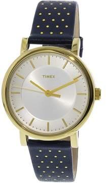Timex Women's Original TW2R27600 Gold Leather Analog Quartz Dress Watch