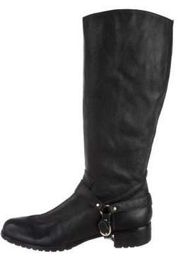 Corso Como Leather Round-Toe Boots
