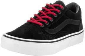 Vans Kids Old Skool (Suede) Black/Racing Red Skate Shoe 13 Kids US