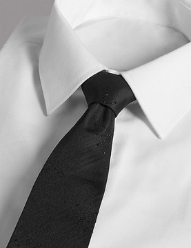 Marks and Spencer Textured Tie MADE WITH SWAROVSKI® ELEMENTS