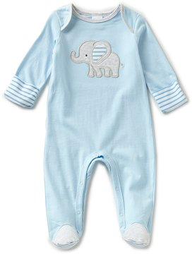 Starting Out Baby Boys Preemie-6 Months Elephant-Applique Footed Coveralls