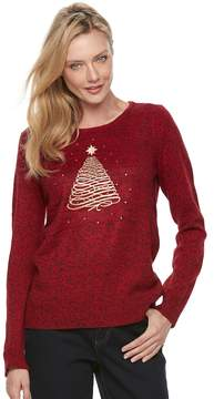 Croft & Barrow Women's Marled Christmas Sweater