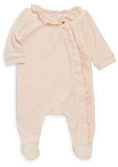 Chloé Baby's Long Sleeve Velvet Footie