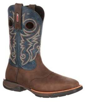 Rocky Men's 11 Lt Western Steel Toe Saddle Boot Rkw0141.