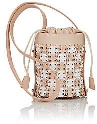 Paco Rabanne Women's 14#01 Mini Leather Bucket Bag - Beige, Tan