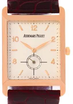 Audemars Piguet 18K Rose Gold & Leather Manual 25mm Mens Watch