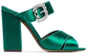 Tabitha Simmons Reyner 100 crystal buckle sandals