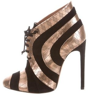Alaia Metallic Striped Booties