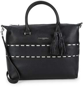 Karl Lagerfeld Paris Women's Kameo Fringe Leather Satchel