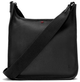 ED Ellen Degeneres Zippered Leather Crossbody Bag