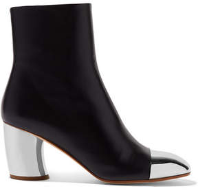 Proenza Schouler Metallic-trimmed Leather Ankle Boots - Black
