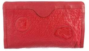 Carlos Falchi Leather Patch Clutch