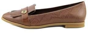 Giani Bernini Womens Petaa Leather Closed Toe Fringe Loafers.