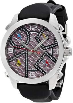 Jacob & co Five time Zone Carbon Fiber Diamond Dial Men's Watch