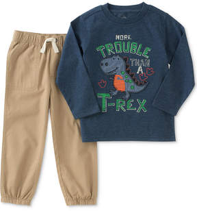 Kids Headquarters 2-Pc. T-Rex Graphic-Print Shirt & Jogger Pants Set, Little Boys (4-7)