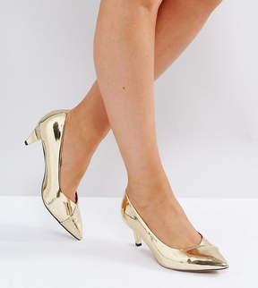 Asos SOUTHERN Wide Fit Pointed Kitten Heels