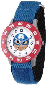 Marvel Emoji Boys Blue Strap Watch-Wma000089