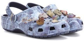 Christopher Kane Embellished printed crocs