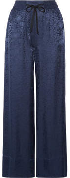 Elizabeth and James Whittier Satin-jacquard Wide-leg Pants - Navy
