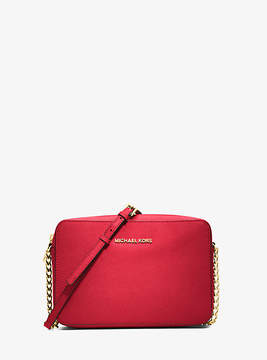 Michael Kors Jet Set Large Saffiano Leather Crossbody - RED - STYLE