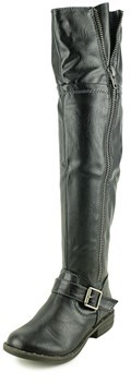 American Rag Ikey 2 Women Round Toe Synthetic Black Over The Knee Boot.