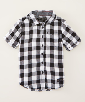 DKNY Caviar Noir Buffalo Check Button-Up - Boys