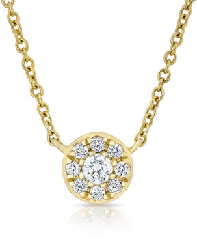 Anne Sisteron Disk Necklace in Yellow Gold