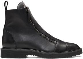 Giuseppe Zanotti Black Tyson Zip Boots