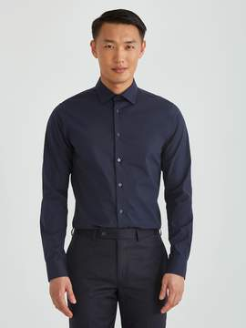 Frank and Oak The Laurier Extra-Slim Stretch Dress Shirt in Navy