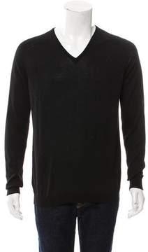 Balenciaga Virgin Wool V-Neck Sweater