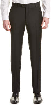 Hickey Freeman Flat Front Wool Pant
