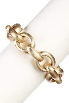 Rivka Friedman 18K Gold Clad Bold Satin Rolo Bracelet
