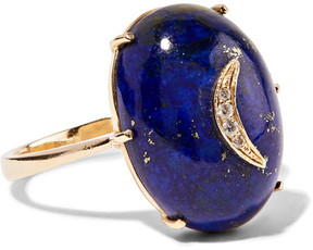 Andrea Fohrman 14-karat Gold, Lapis And Diamond Ring