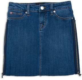 Hudson Girls' Olivia Denim Skirt with Zipper Details - Big Kid