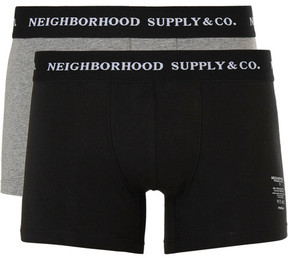 Neighborhood Two-Pack Cotton-Blend Boxer Briefs