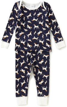 Starting Out Little Boys 2T-4T Dog-Print Top & Pants Pajama Set