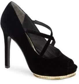Adrianna Papell Golda Open-Toe Platform Heels